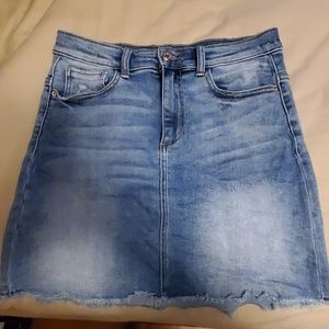 High Waister Denim Skirt